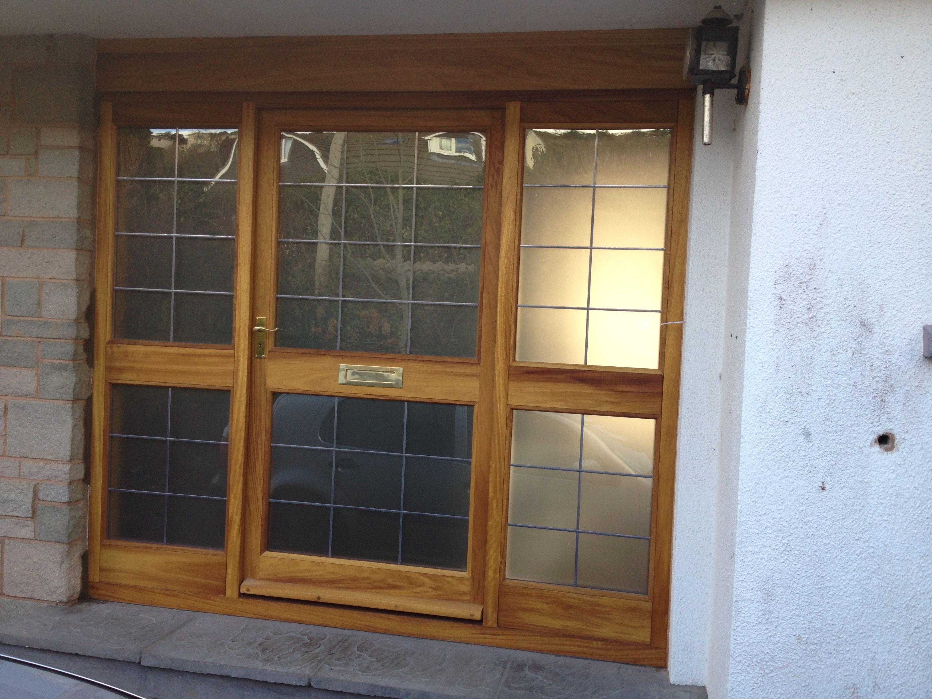 Oak door assembly with obscure leaded double glazing from Devon Custom Joinery & Oak door assembly with obscure leaded double glazing from Devon ...