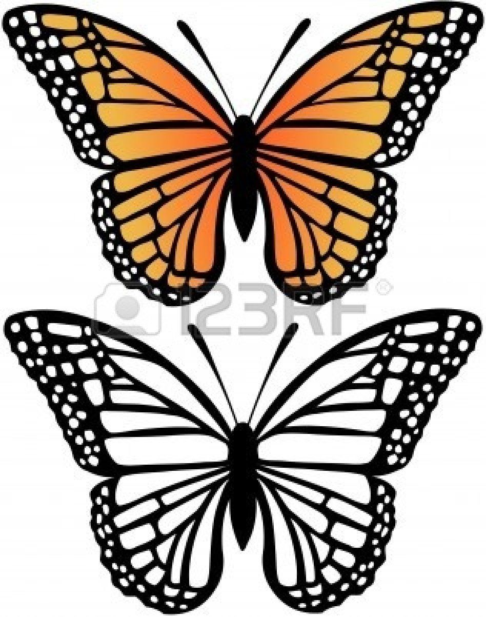 free monarch butterfly clip art black and white monarch butterfly