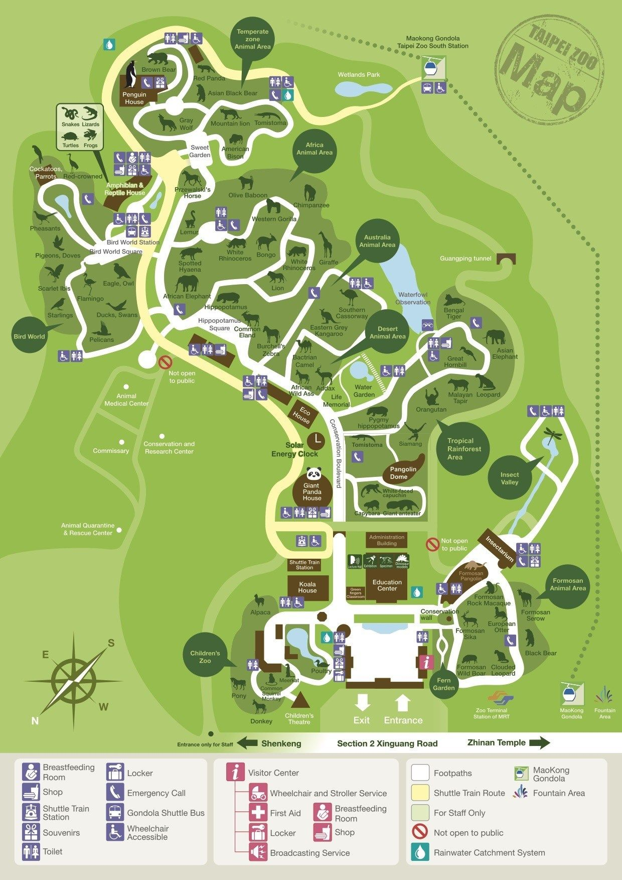 Map Of Taipei Zoo In 2020 Zoo Signage Zoo Map Zoo Architecture