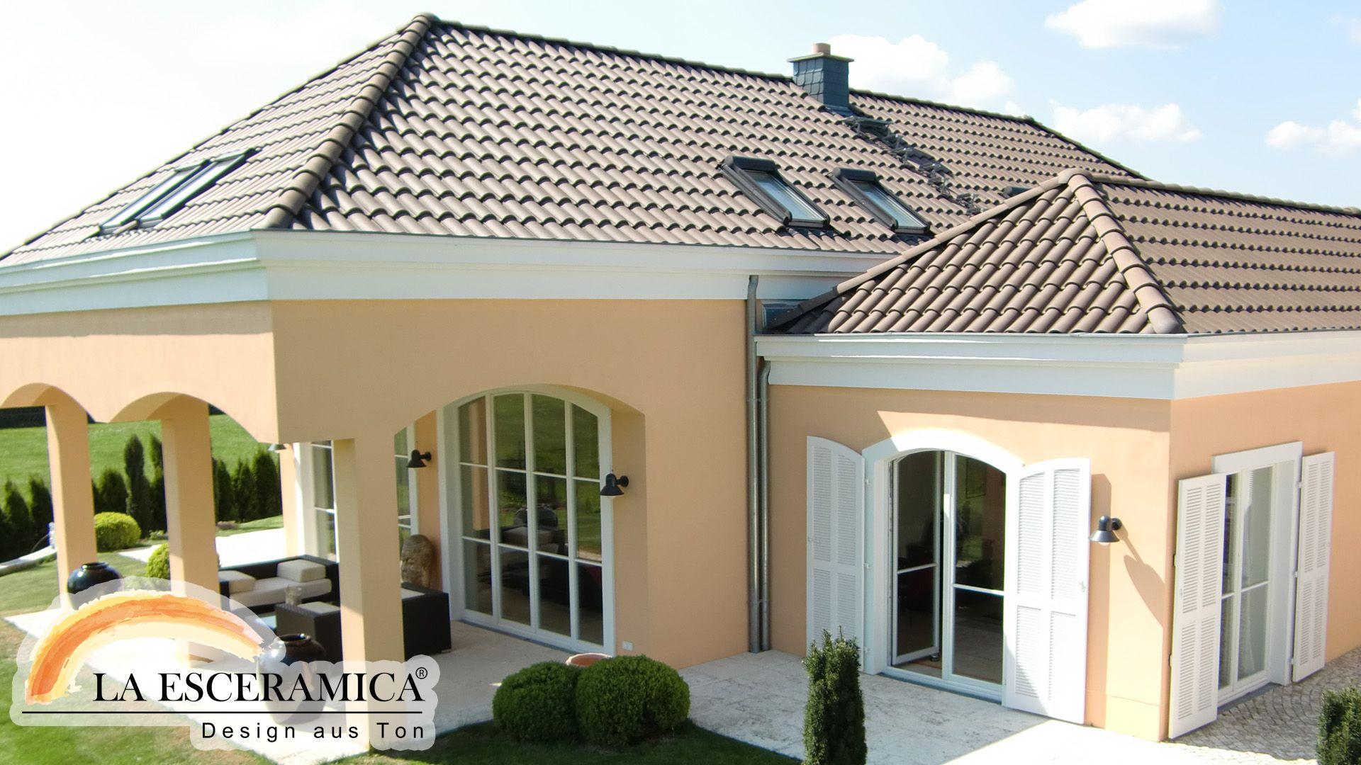 Delightful La Esceramica Dachziegel Farbe Braun