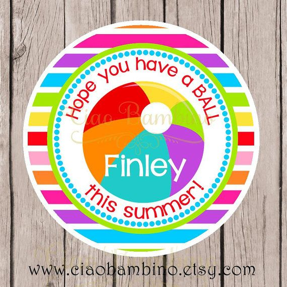 photograph about Have a Ball This Summer Printable called PRINTABLE Anticipate On your own Comprise a BALL This Summer months Tag / via