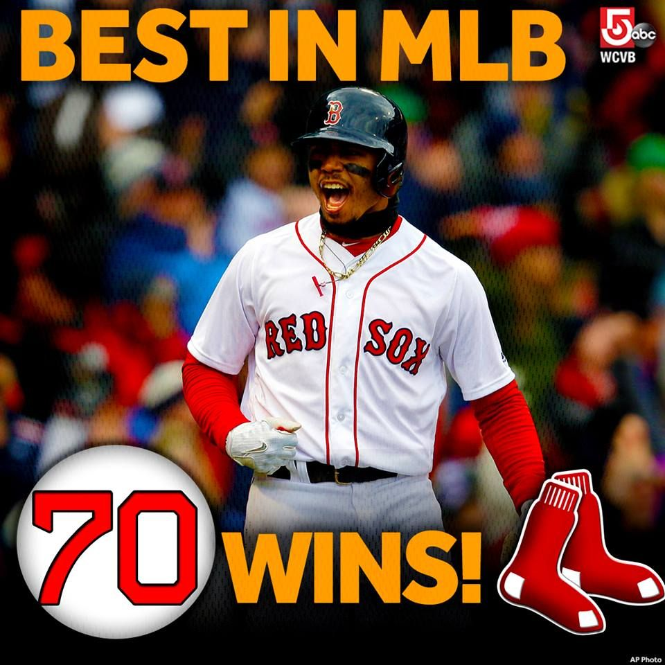 First To 70 Wins In Mlb Best Record In The Majors We Our Boston Red Sox Red Sox Baby Boston Red Sox Red Sox