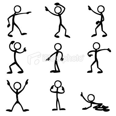 Stick Figure People Pointing Stick Figures Doodle Art Stick