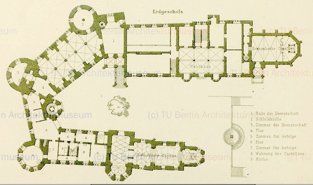 Burg Hohenzollern Castle Floor Plan Castle Plans Hohenzollern Castle