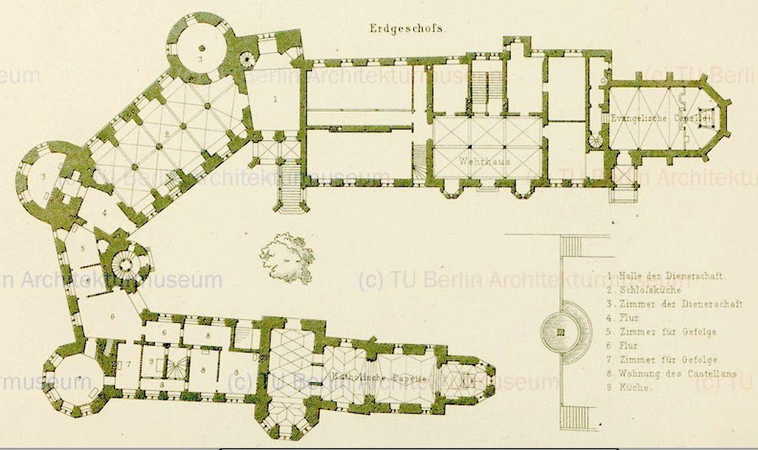 Burg Hohenzollern Castle Floor Plan Castle Plans Hohenzollern Castle