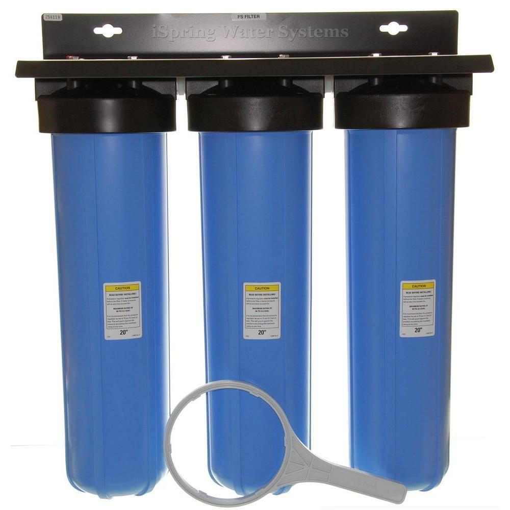 Dual Stage 20 Big Blue Whole House Water Filter Sediment Carbon Block Filters