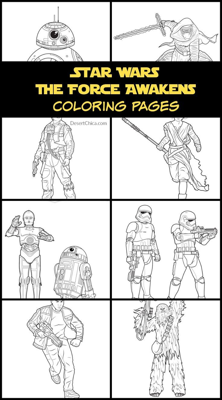 Star Wars The Force Awakens Coloring Pages And Activity Sheets This Fairy Tale Life Star Wars Activity Sheets Coloring Pages Star Wars Activities