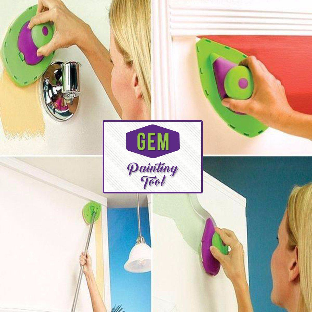 $49.80- $24.90 Gem Painting Tool Forget messy paint rollers, GemPainting Toolis the quicker, easier, more precise way to paint any room fast.Features: Can pa