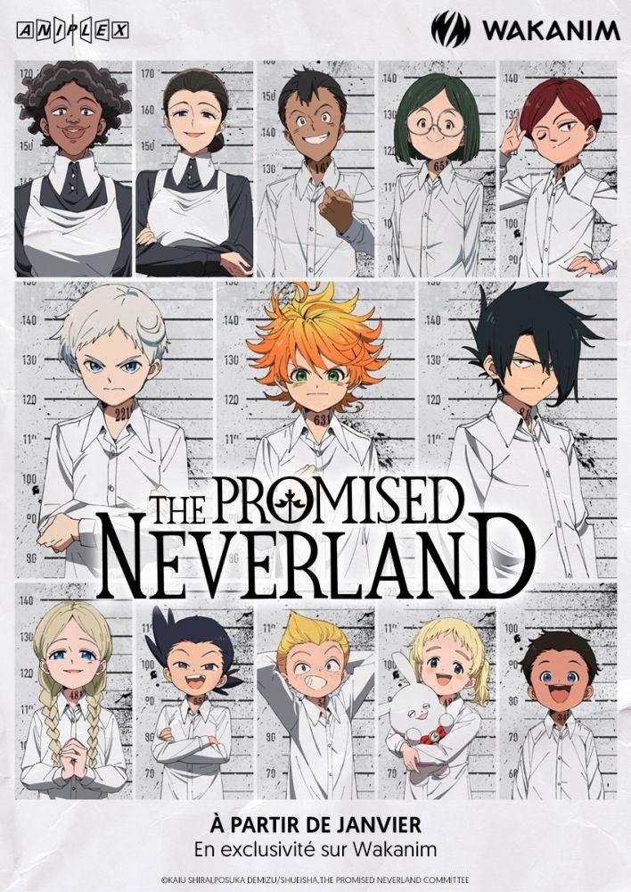 l anime the promised neverland arrive