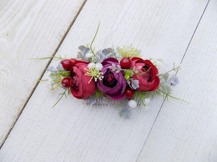 Pfingstrose Haarspange Blume Kamm Folie rot lila weiß Haarschmuck Kopfschmuck rustikale Hochzeit ihr Braut Haar Kamm einzigartige Geschenke für Frauen   - I'm Not a Witch, I'm Your Wife - #Blume #Braut #einzigartige #Folie #Frauen #für #Geschenke #Haar #Haarschmuck #Haarspange #Hochzeit #ihr #Kamm #Kopfschmuck #lila #Pfingstrose #rot #Rustikale #Weiß #Wife #Witch #brautblume