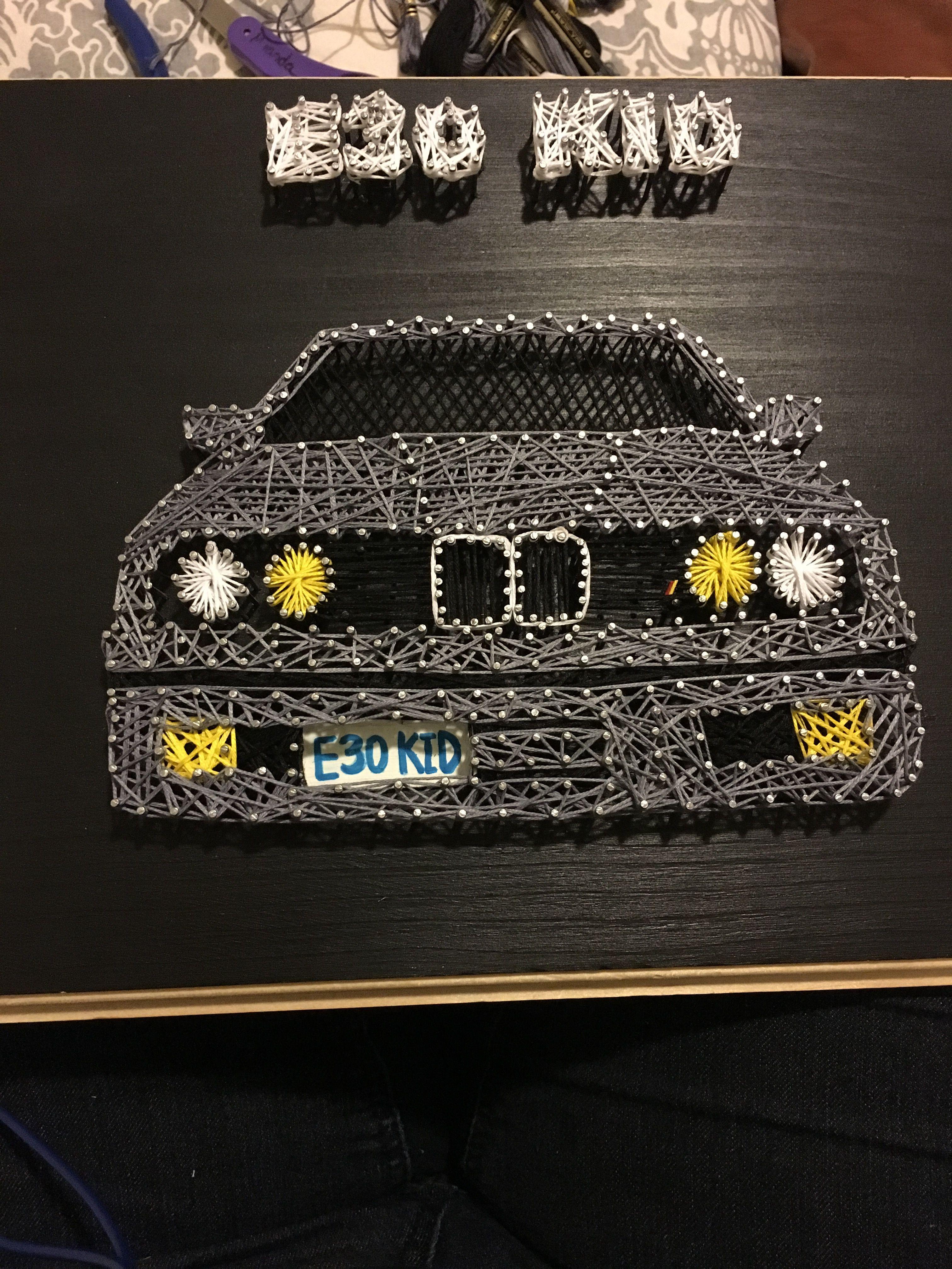 String Art E30 BMW   עבודה   Pinterest   Fadenbilder, Fadenkunst und ...