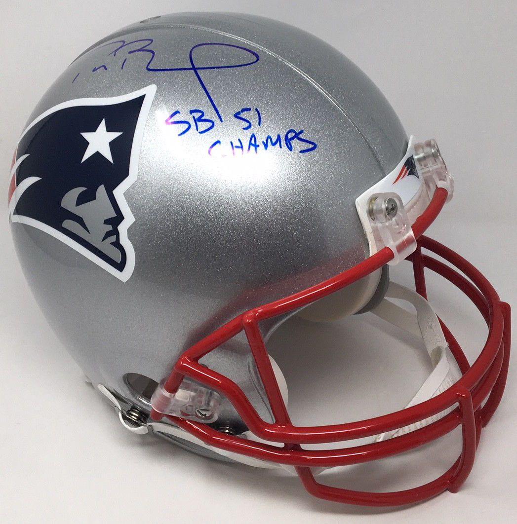 Tom brady autographed sb 51 champs authentic patriots