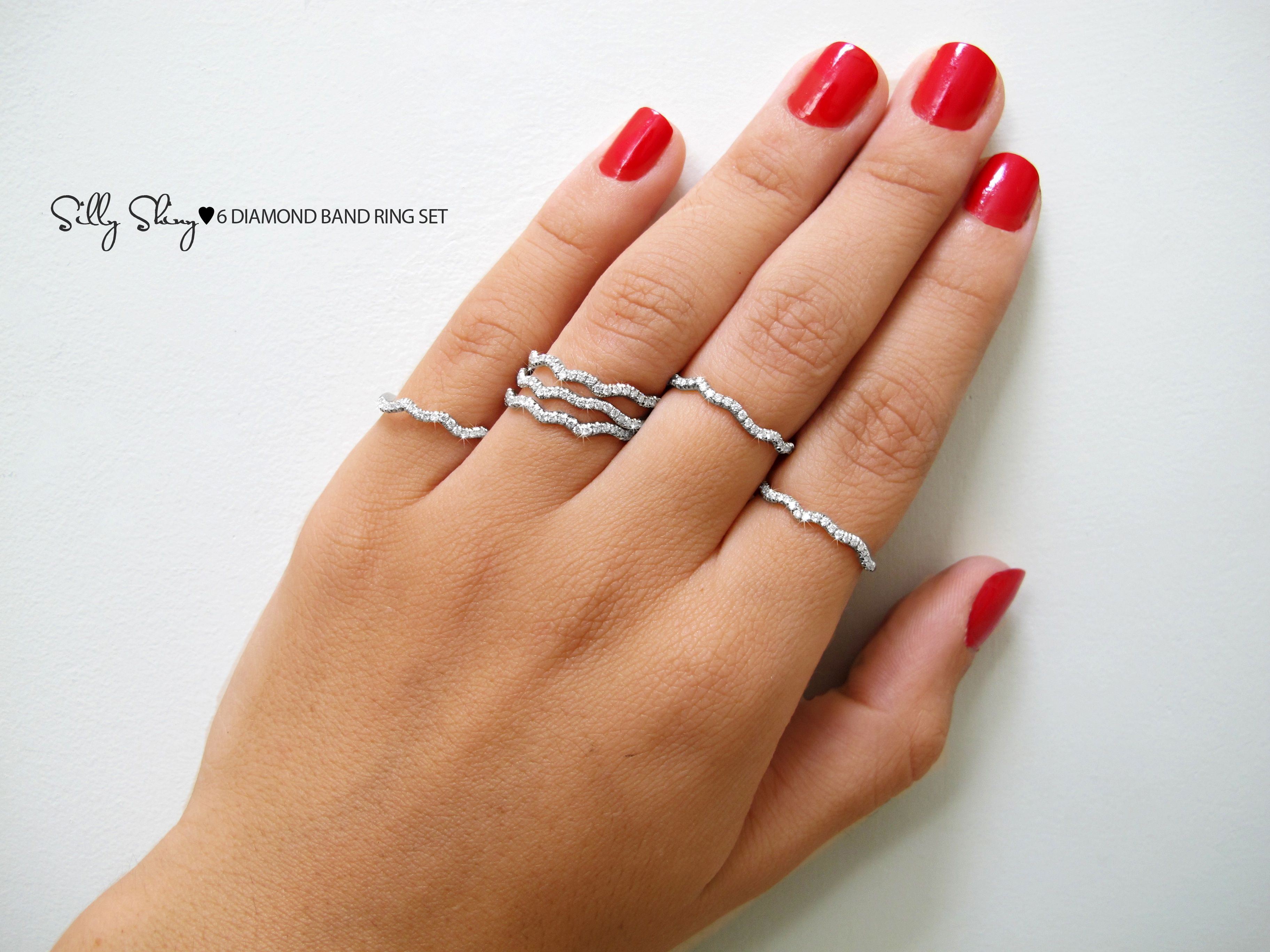 Make A Statment With 6 Diamond Bands Timeless Classic Look