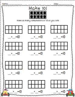 bits of first grade make ten tens frames freebie math pinterest ten frames math and. Black Bedroom Furniture Sets. Home Design Ideas