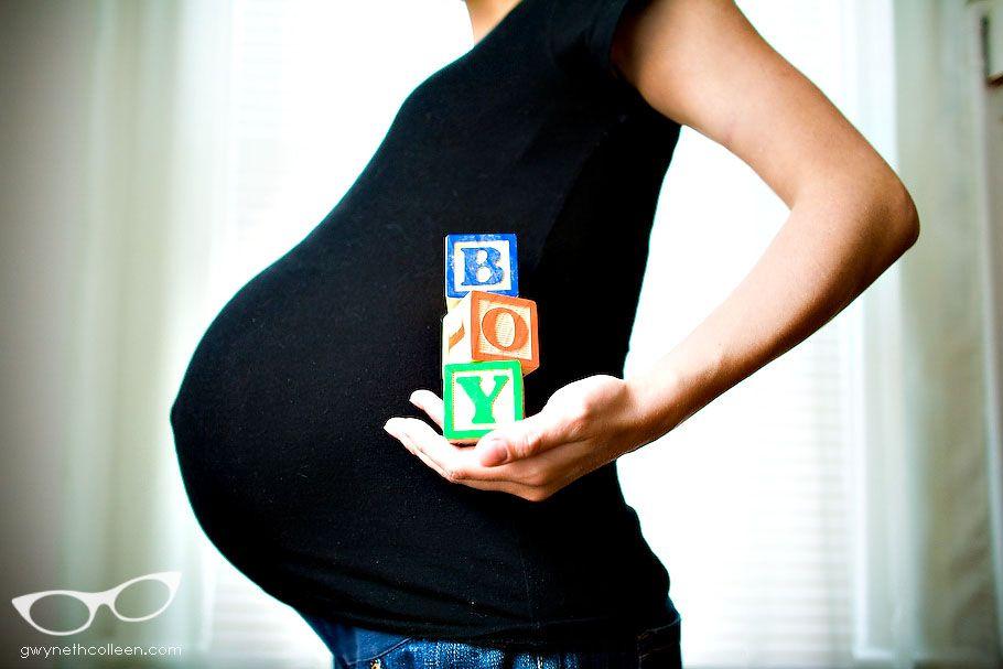 Idea para revelar si esperas niño o niña.