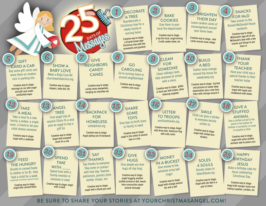 25 Days Of Messages To Do With The Christmas Angel Angels Are Messengers So Have Fun