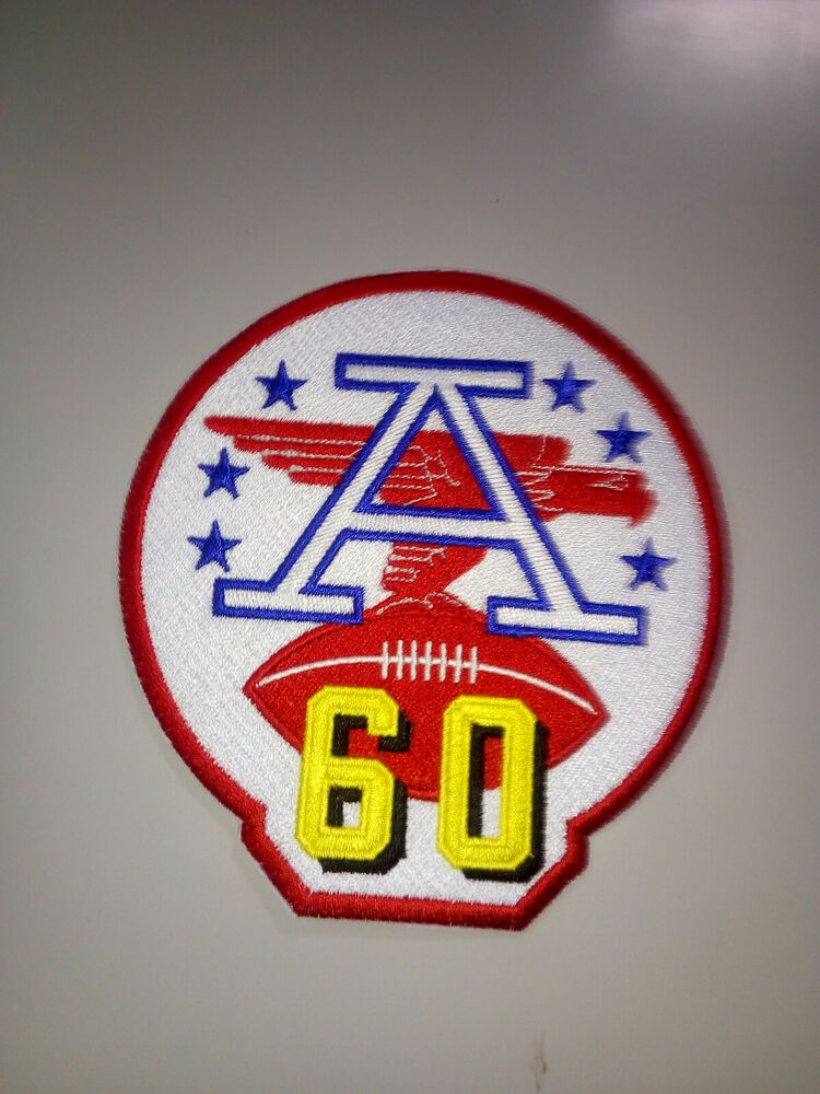 AFL 60th Anniversary American Football League Patch 4
