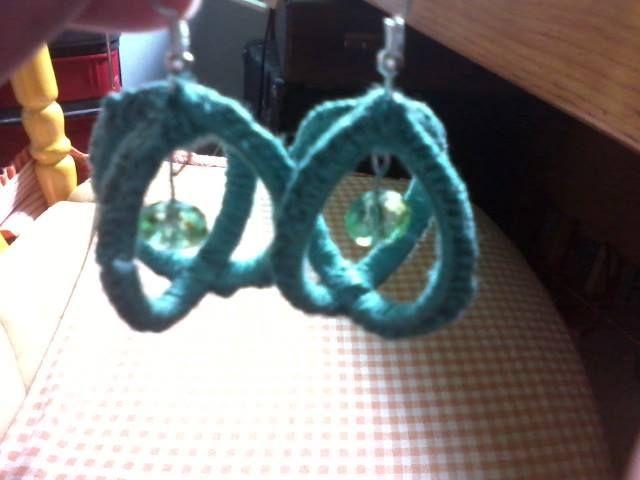 orecchini sfera uncinetto