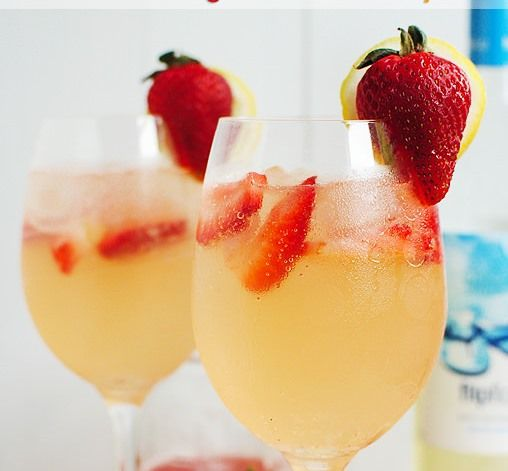 I am not a big drinker, but when I do, I love a glass on a warm evening.  (I stole this pic because my pic wasn't as refreshing looking since the sun has gone down) Fill your glass half with pinot gregio (Oak Leaf $1.97 at Walmart!) and half with Welch's Sparkling Mango Passion Fruit add slices berries. Refreshing. But Sip slow....it's tastes light, so it'll sneak up on you!