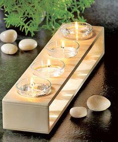 Ob Gelkerzen oder Teelichter: Diesen Kerzenhalter kannst du selbst bauen. Unser DIY zeigt dir, wie man es baut.