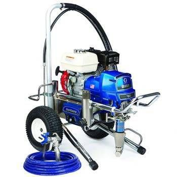 """The Graco 16W884 (Old# 248700) GMax II 7900 Lo-Boy Standard Series Gasoline Airless Sprayer comes complete with the Graco Contractor Spray Gun, RAC-X 517 Switch Tip and Guard, 50' x 3/8"""" BlueMax Airless Hose and a 3' x 1/4"""" BlueMax Whip Hose.With a 200 cc Honda engine and the ability to spray up to 2.2 gallons per minute, the GMAX 7900 is Gracos largest gas mechanical sprayer. All 7900 sprayers come equipped with Gracos Extreme-Duty MaxLife pump, and they can handle the widest range of tip…"""