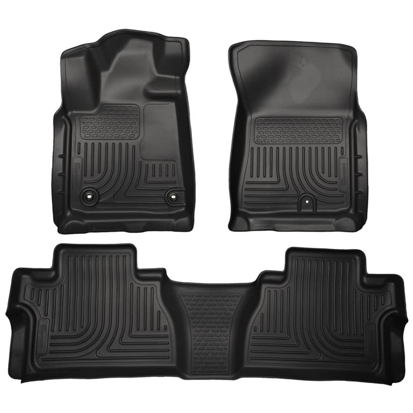 Husky Weatherbeater 2014 2016 Toyota Tundra Doublecab Black Front Rear Floor Mats Liners Husky Liners Tundra Crewmax Floor Liners