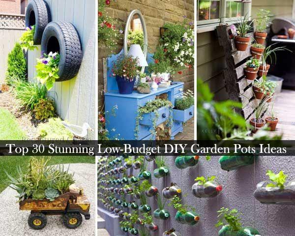 30 Stunning Low Budget Diy Garden Pots And Containers Diy Garden