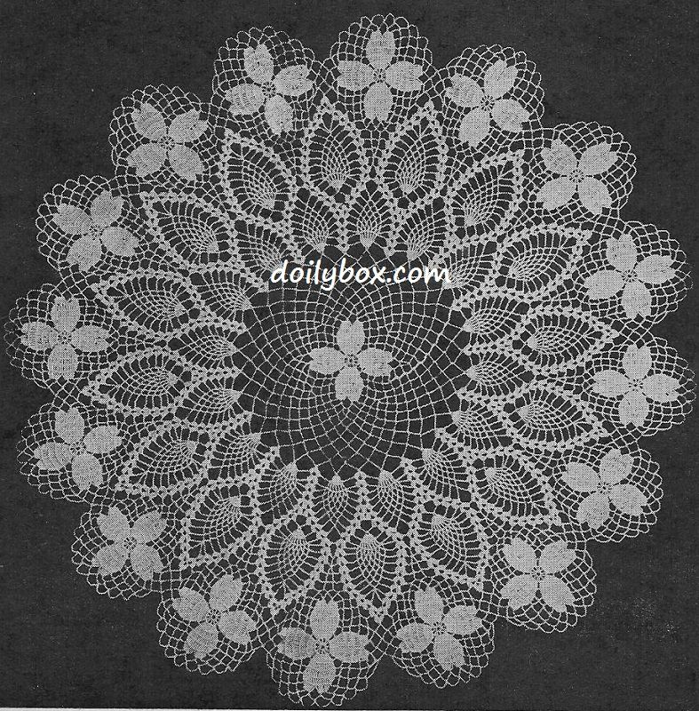 Free Vintage Crochet Dogwood Doily Pattern … | Pinteres…