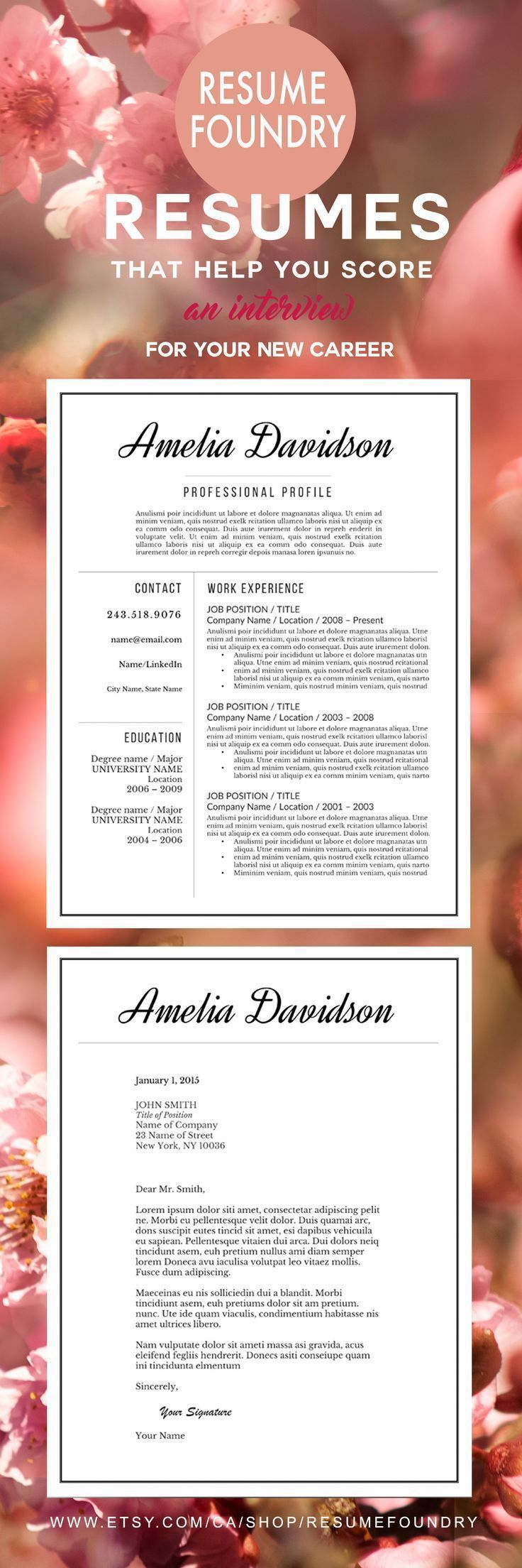 Professional Resume Template for Word, 13 Page Resume