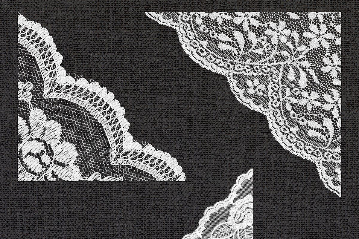 White Lace Corners Clipart Clip Art White Lace Lace