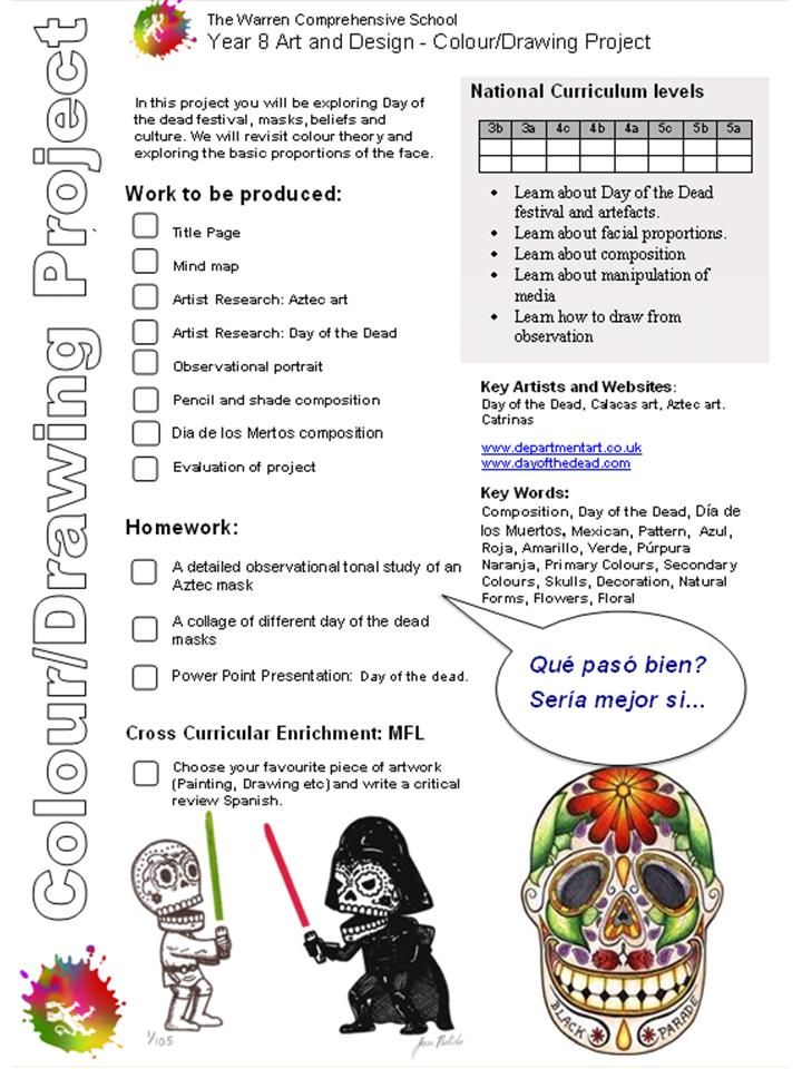 day of the dead project brief i like the format of the. Black Bedroom Furniture Sets. Home Design Ideas