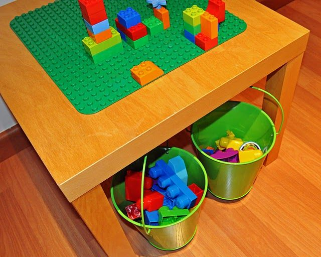 """Great Ikea """"hack"""" -- Lego/Duplo table made from Ikea sidetable."""