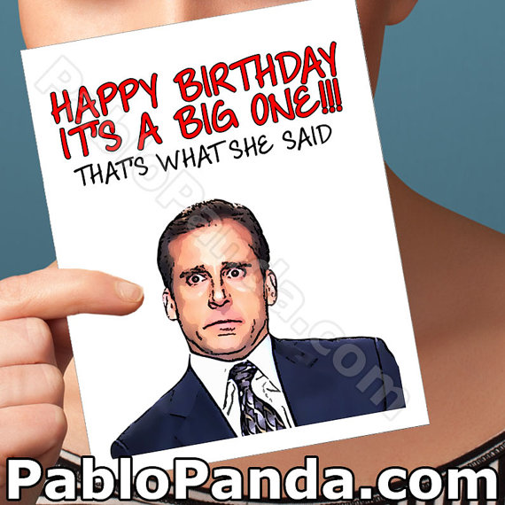 Funny Birthday Card The Office Best Friend By Pablopanda On Etsy