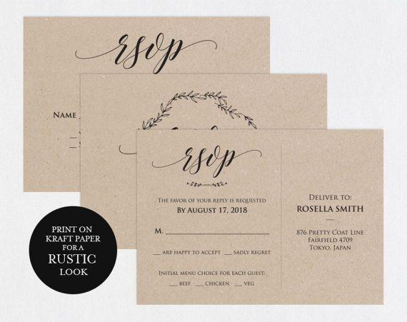 RSVP postcards templates Wedding rsvp cards rsvp online RSVP Cards