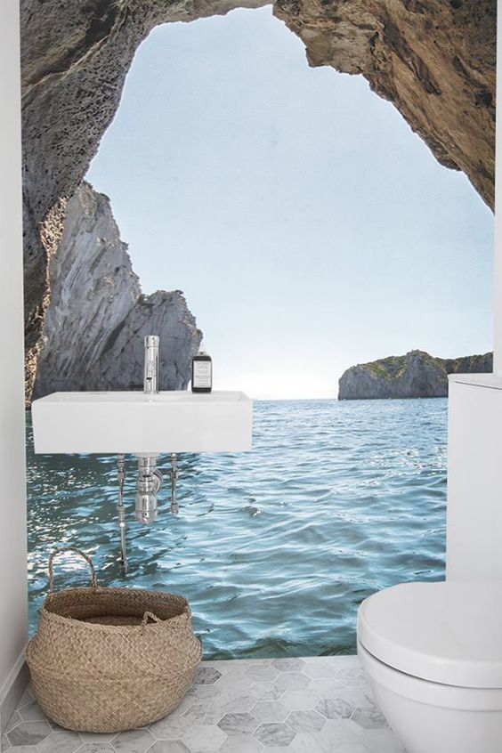 Tapeten Fototapeten Fototapety Tapety Murals Papier Peint Wallpapers 80 In 2020 Tapeten Kleine Badezimmer Inspiration Badezimmerideen