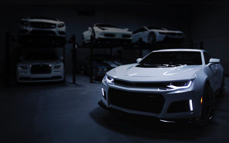 Wallpaper Chevrolet Camaro Zl1 White Car Front Car Wallpapers