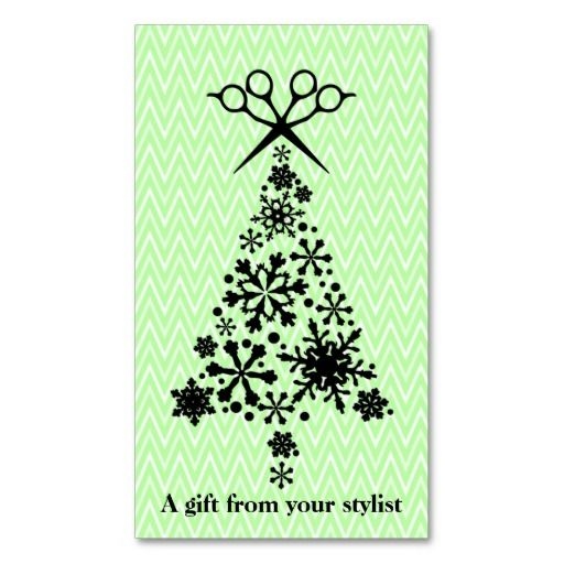 Hair salon stylist holiday coupon gift card xmas business card - christmas gift vouchers templates