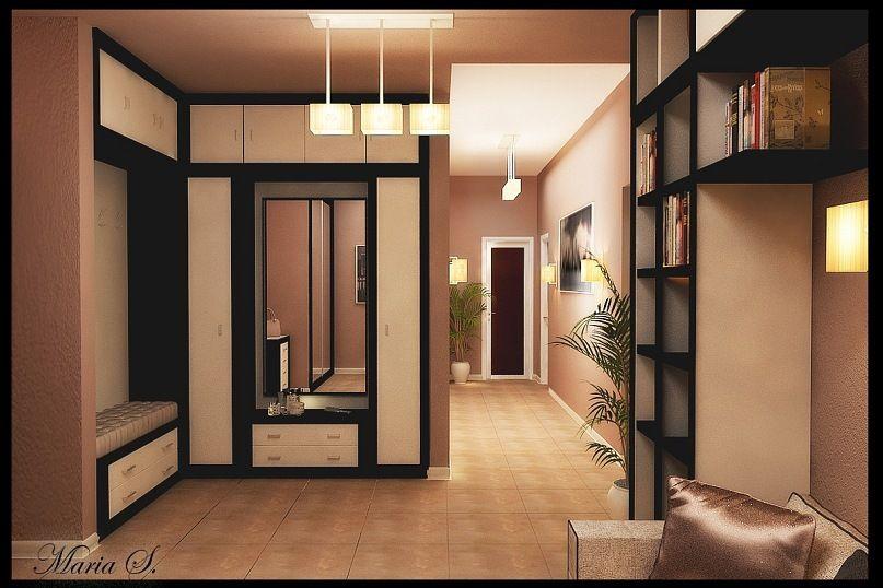 Квадратная прихожая в квартире дизайн фото