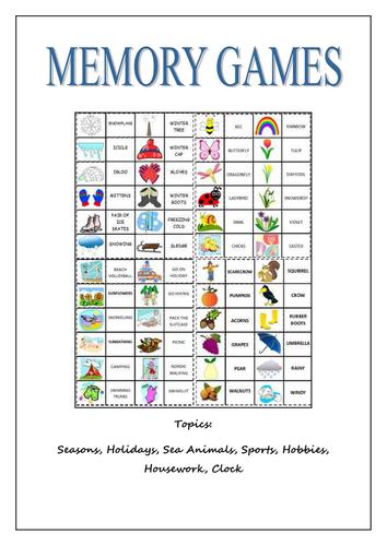 Memory Games Booklet Memory games, Memories, Games