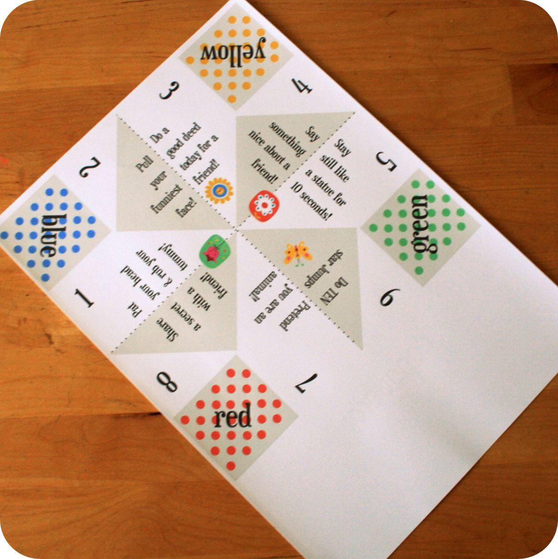 Free Paper Fortune Teller Printable Templates Paper Fortune Teller