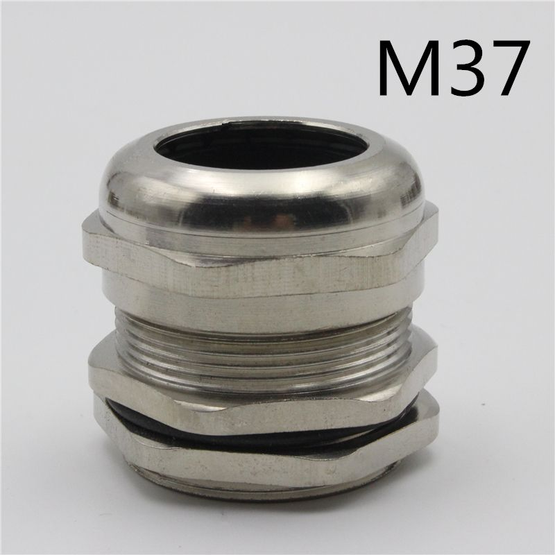 1piece m37*1 5 nickel brass metal silica gel waterproof cable glands  1piece m37*1 5 nickel brass metal silica gel waterproof cable glands connector apply to cable