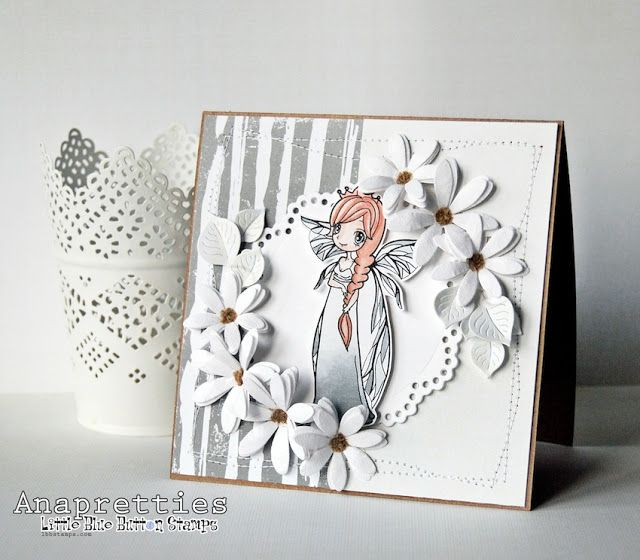 Card designed by Annapretties using Princess Fairy image by Little Blue Button Stamps.