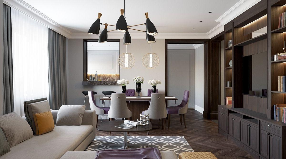 2 Beautiful Home Interiors In Art Deco Style Art Deco Interior