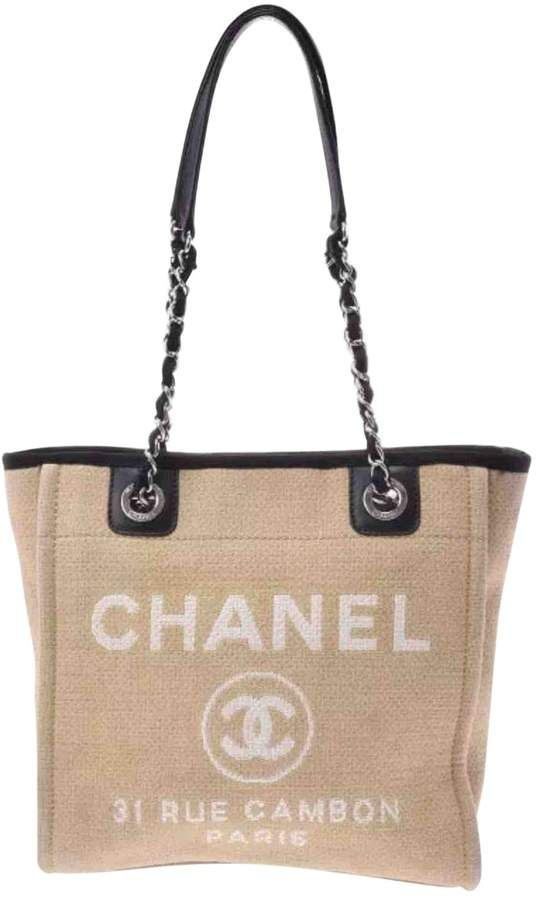 679efd4af Deauville cloth tote in 2019 | Purses and bags | Chanel tote, Chanel ...