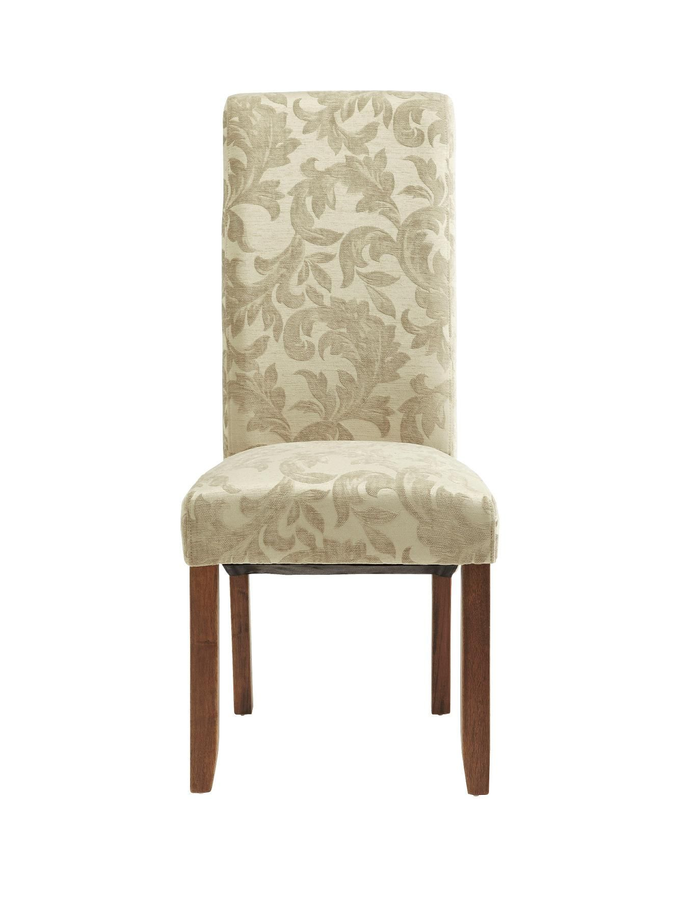 Brook dining chairs floral fabric set of 2 dining