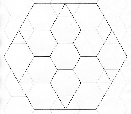 English Paper Piecing Jewel Star Template Star template, English - octagon graph paper