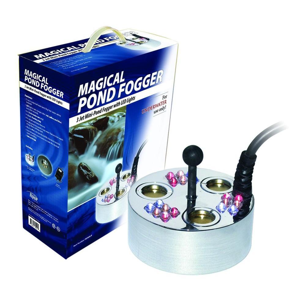3 Jet Pond Fogger 18 LED Lights Transformer And Ring Garden Ponds, Water  Gardens,