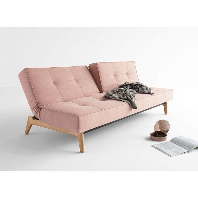 Canapé Convertible Pied Bois SPLITBACK CANAPE EIK ACHATDESIGN Prix - Canapé convertible scandinave pour noël decoration meuble salon