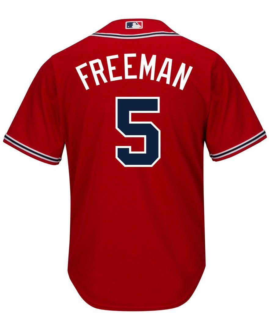 Majestic Men S Freddie Freeman Atlanta Braves Replica Jersey Atlanta Braves Freeman Braves