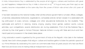 patriotic speech in english for students
